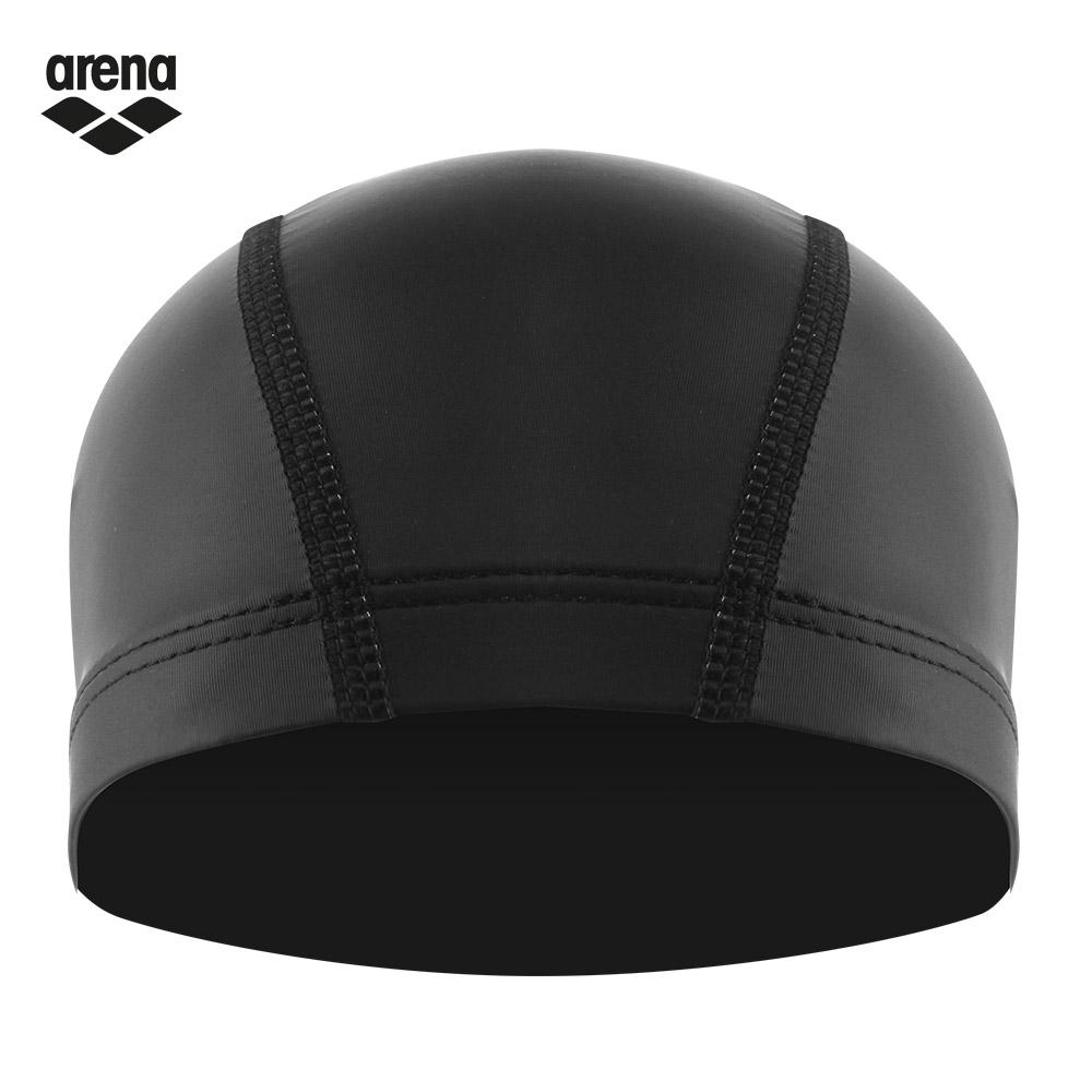 arena 雙層材質泳帽 黑色 AMS-7604