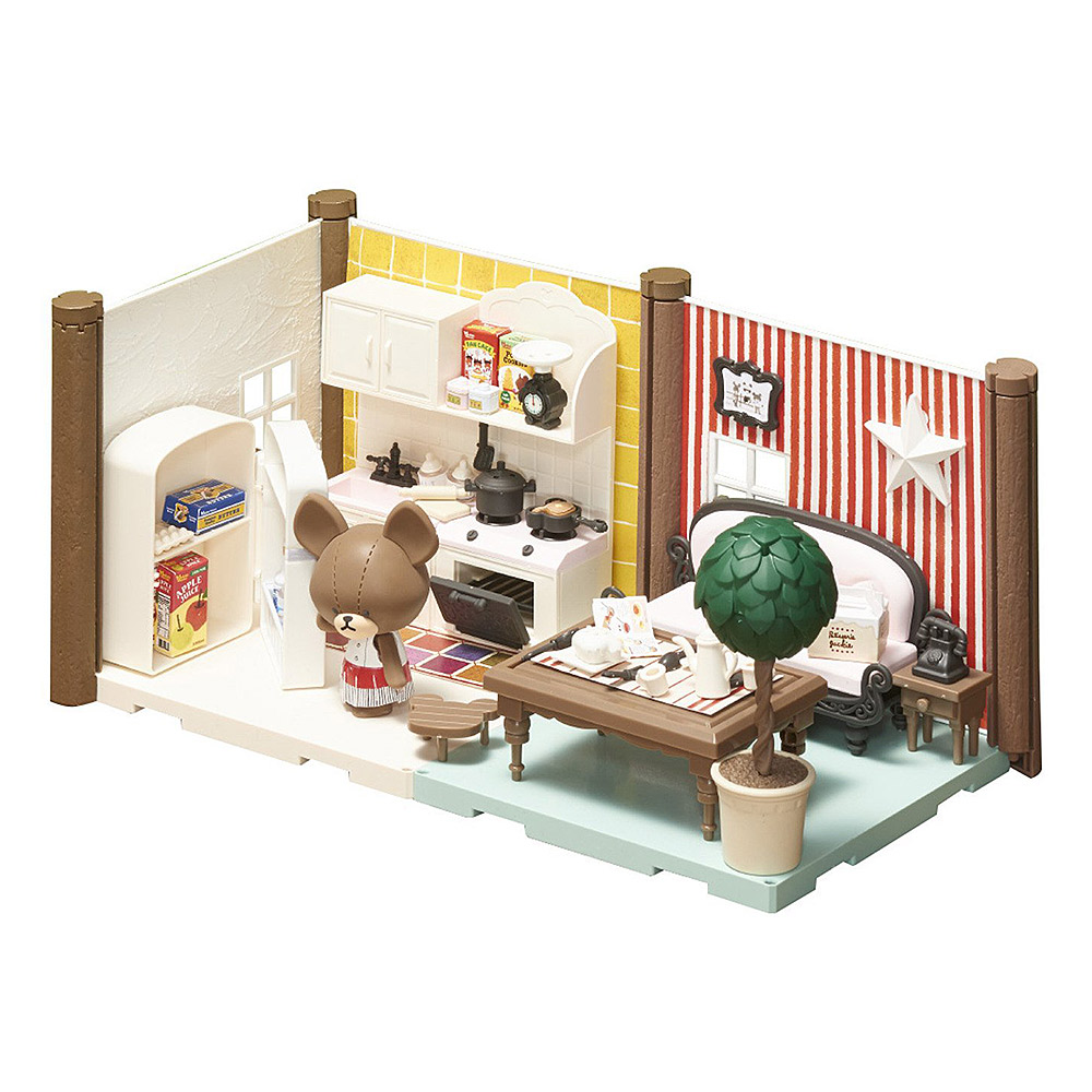 BANDAI 組裝模型 Haco Room 小熊學校 廚房