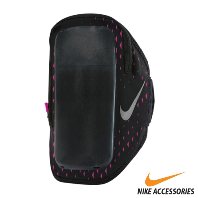 NIKE 手機萬用臂包(5.5吋手機通用) (黑/桃/銀)