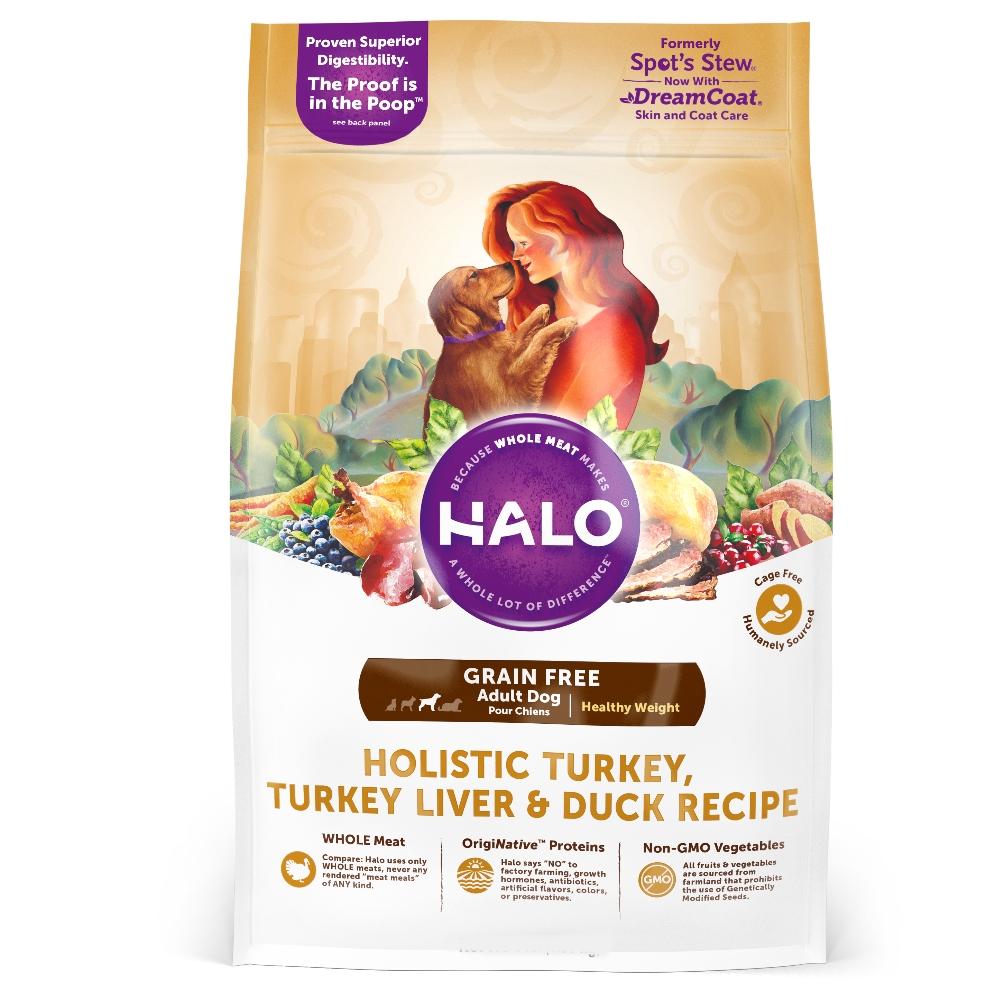 HALO嘿囉 無穀低脂成犬燉食 新鮮火雞肉燉鴨肉+鷹嘴豆 14磅