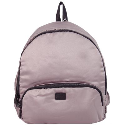 agnes b. 皮標太空棉後背包-灰紫