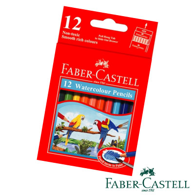Faber-Castell紅色系水性彩色鉛筆-12色(短型)