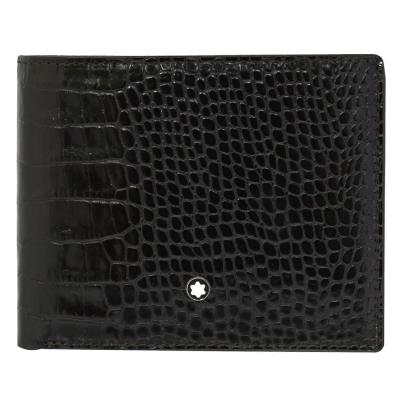 萬寶龍-鱷魚紋系列-8卡-3卡證件皮夾