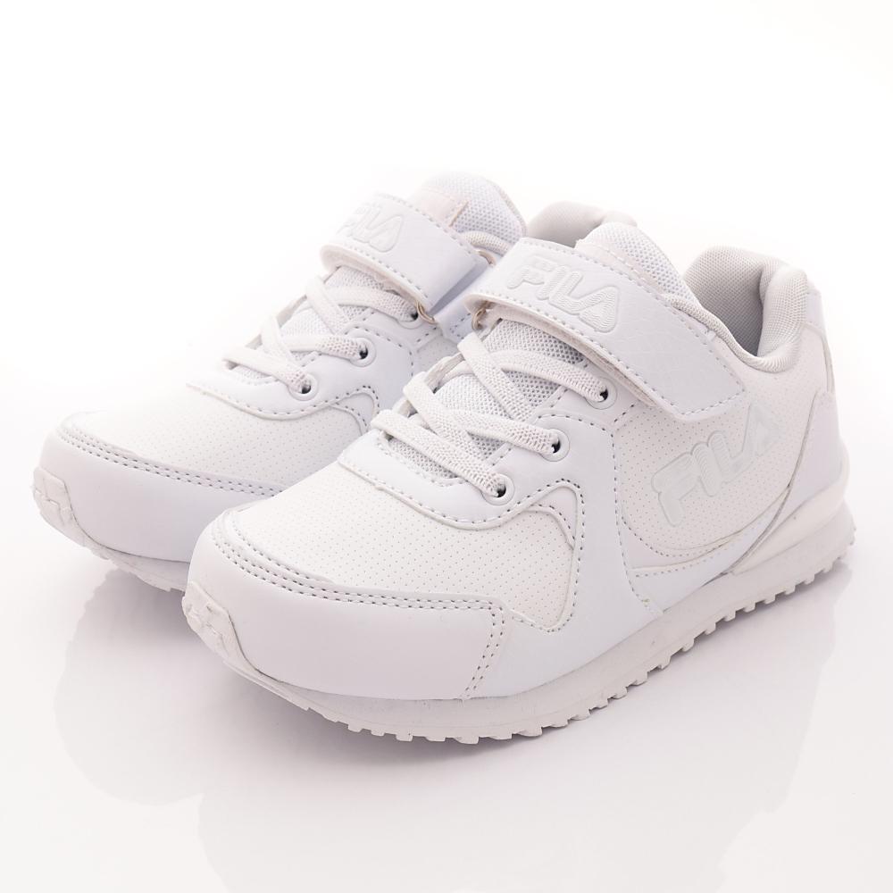 FILA頂級童鞋款-私校基本款-419R111白(中大童段)HN