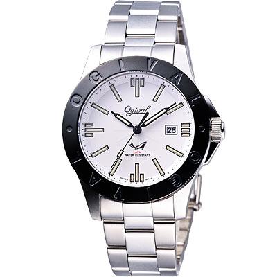 Ogival  經典夜鷹氚氣燈管腕錶-IP黑框/40mm