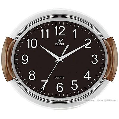 POWER霸王鐘錶-動感旋轉音樂掛鐘-科技黑-PW-830-BKS-37.3CM