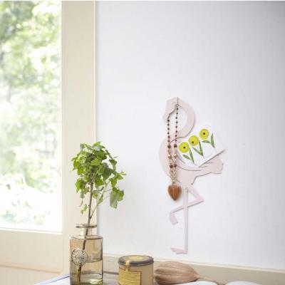 YAMAZAKI 壁飾收納 紅鶴造型-粉