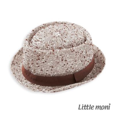 Little-moni-毛呢紳士帽-咖啡