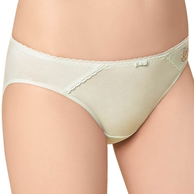思薇爾 咕咕雞自由風系列M-XL素面低腰三角內褲(綠香精)