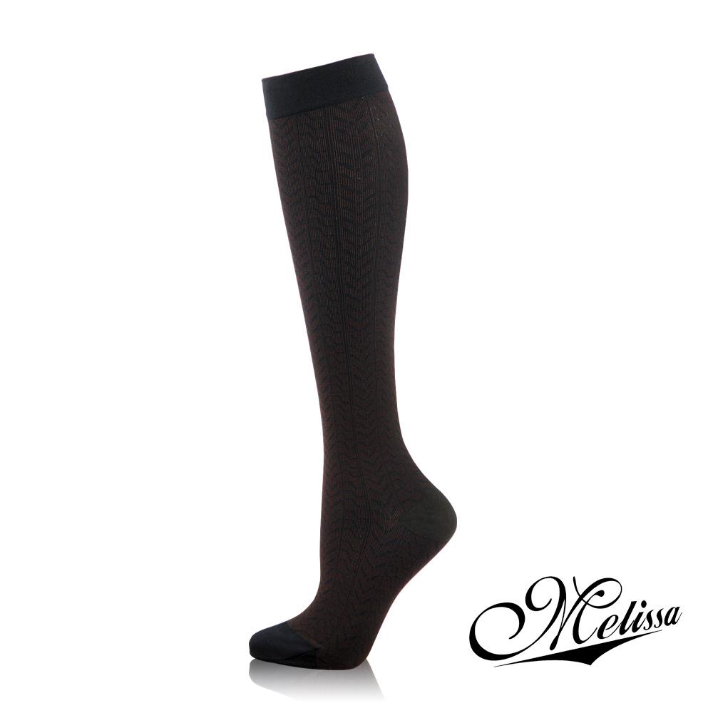 Melissa 魅莉莎 醫療級時尚彈性美腿襪─小腿襪(魅力黑)