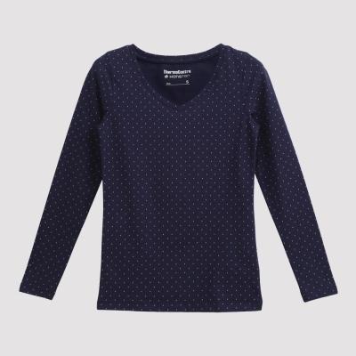 Hang Ten - 女裝 - ThermoContro V領暖溫衣 - 深藍