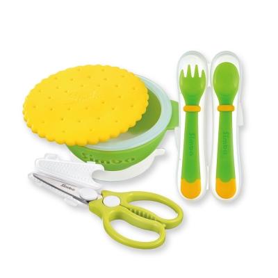 小獅王辛巴 曲奇餐具金剛剪副食品必備三件組