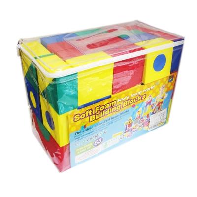 EVA創意積木/軟質發泡ST安全玩具(68片入)