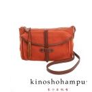kinoshohampu 經典皮帶穿繩設計帆布斜揹/肩揹包 橘