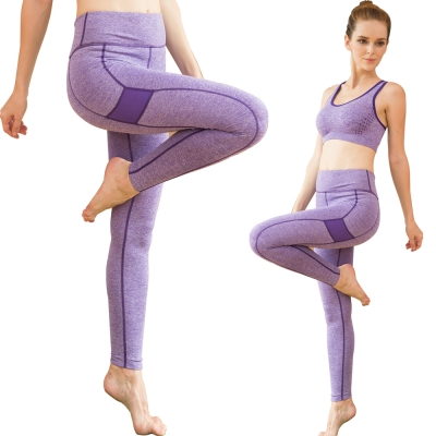 Seraphic 運動快乾彈力壓縮褲一件(紫)