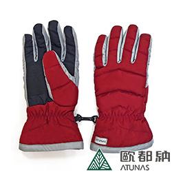 【ATUNAS 歐都納】女款防潑水防風手套(機車/登山/滑雪 A1-A1749W 紅)