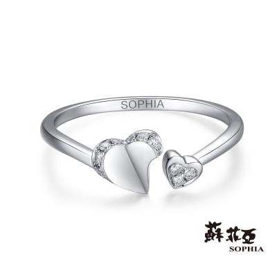 蘇菲亞SOPHIA 鑽戒-心心相印可調式鑽石戒指