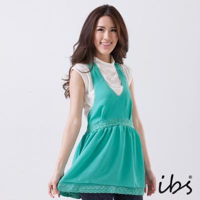 IBS 綁帶露背雪紡上衣-淺綠-女