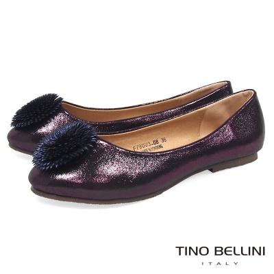 Tino Bellini 立體繁花舒足平底娃娃鞋_ 紫