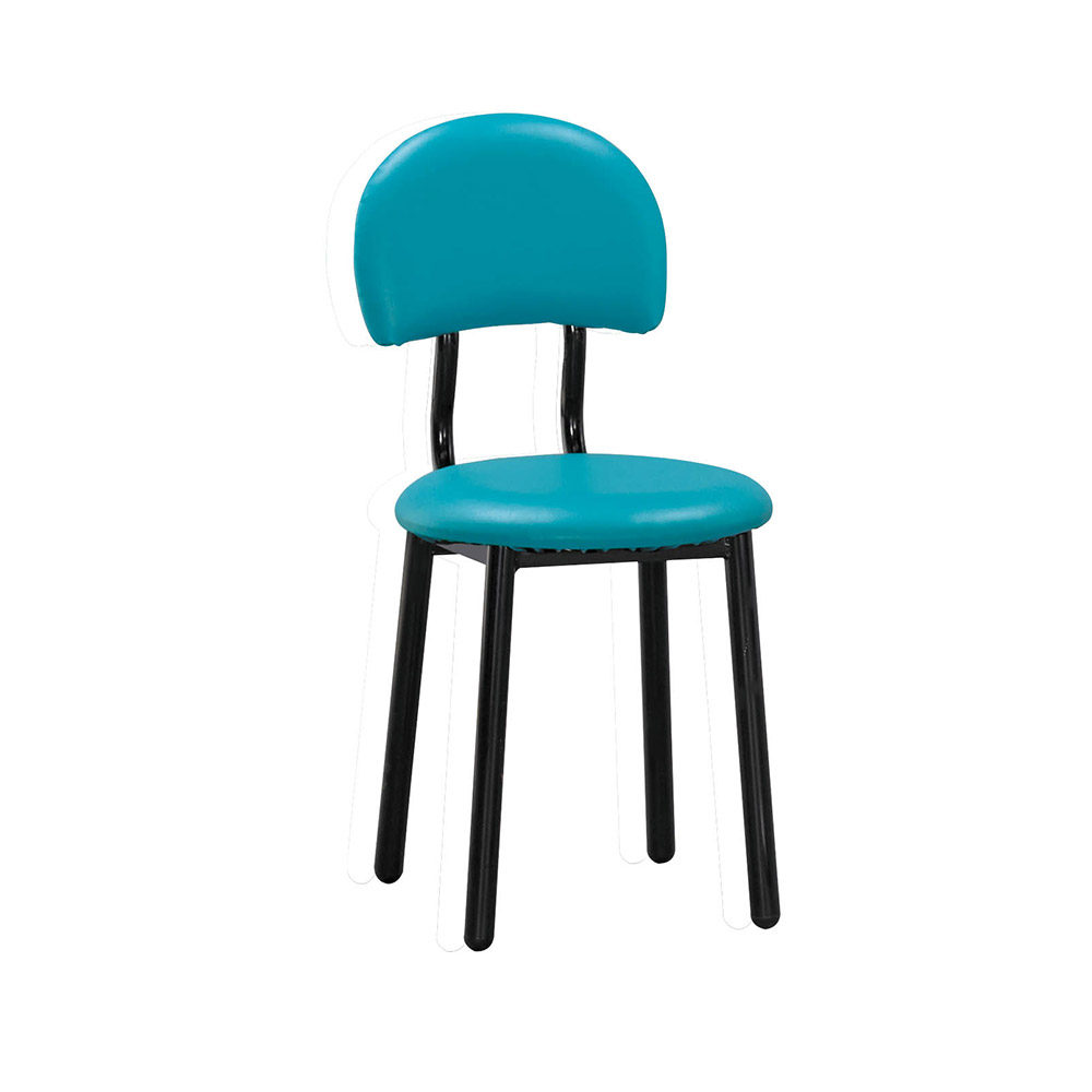 H&D 羅莎藍綠皮椅 (寬40X深52X高83cm)