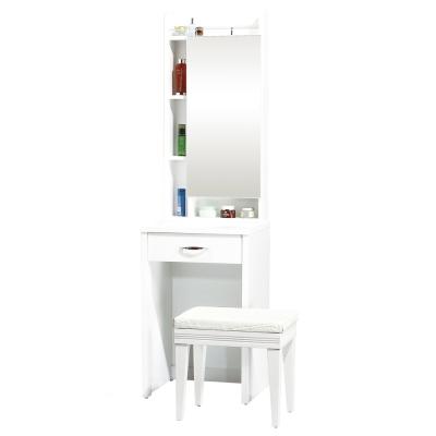 AT HOME-妮可拉1.5尺白色鏡台[含椅]