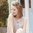 羅絲美睡衣 - 點點甜心純棉無袖褲裝睡衣(氣質灰)