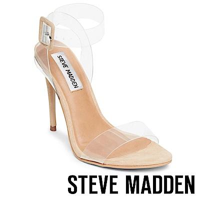 STEVE MADDEN-SEEME-裸肌透明高跟涼鞋-米色