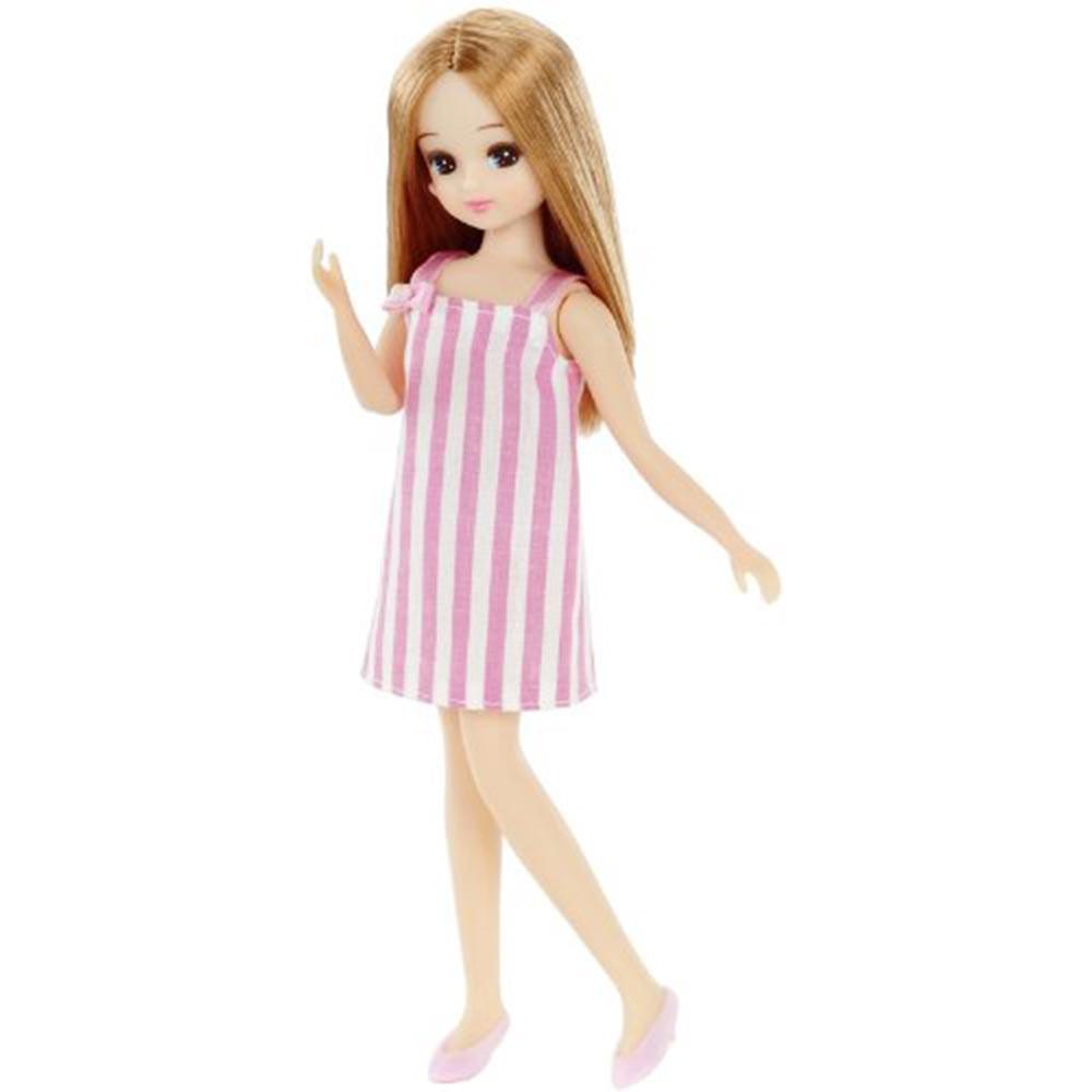 TAKARA TOMY 莉卡娃娃LD01粉紅連身洋裝
