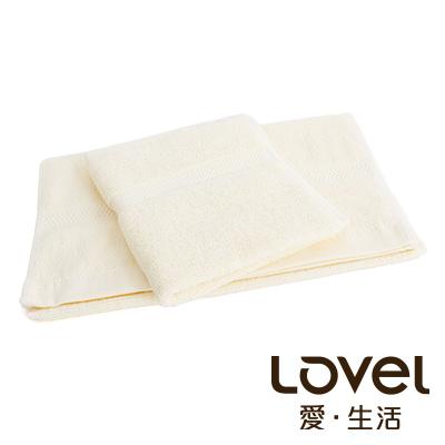 LOVEL 嚴選六星級飯店(毛巾+方巾)超值雙件組合(米黃)