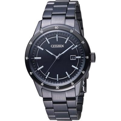 CITIZEN-黑武士光動能時尚腕錶-AW1165-51E-黑-40mm