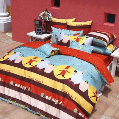 義大利Fancy Belle 甜美夢境 加大四件式貢緞兩用被床包組