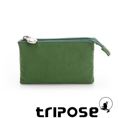 tripose 漫遊系列岩紋簡約微旅萬用零錢包 綠