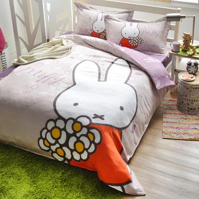 Saint Rose 米菲 雙人100%純天絲兩用被套床包四件組