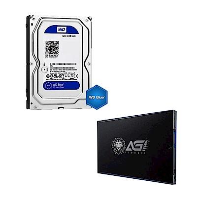 WD 2TB硬碟+AGI 240G 固態硬碟