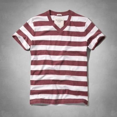 AF a&f Abercrombie & Fitch 短袖 T恤 酒紅色 0041