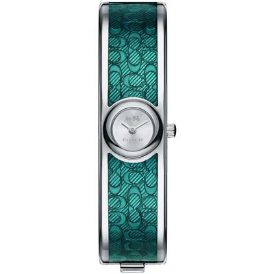 COACH Scout 亮麗幾何 Logo小徑面手環錶(14502622)-綠色/16mm