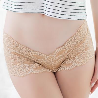 FLORALOVELY-蕾絲日本生理褲-膚