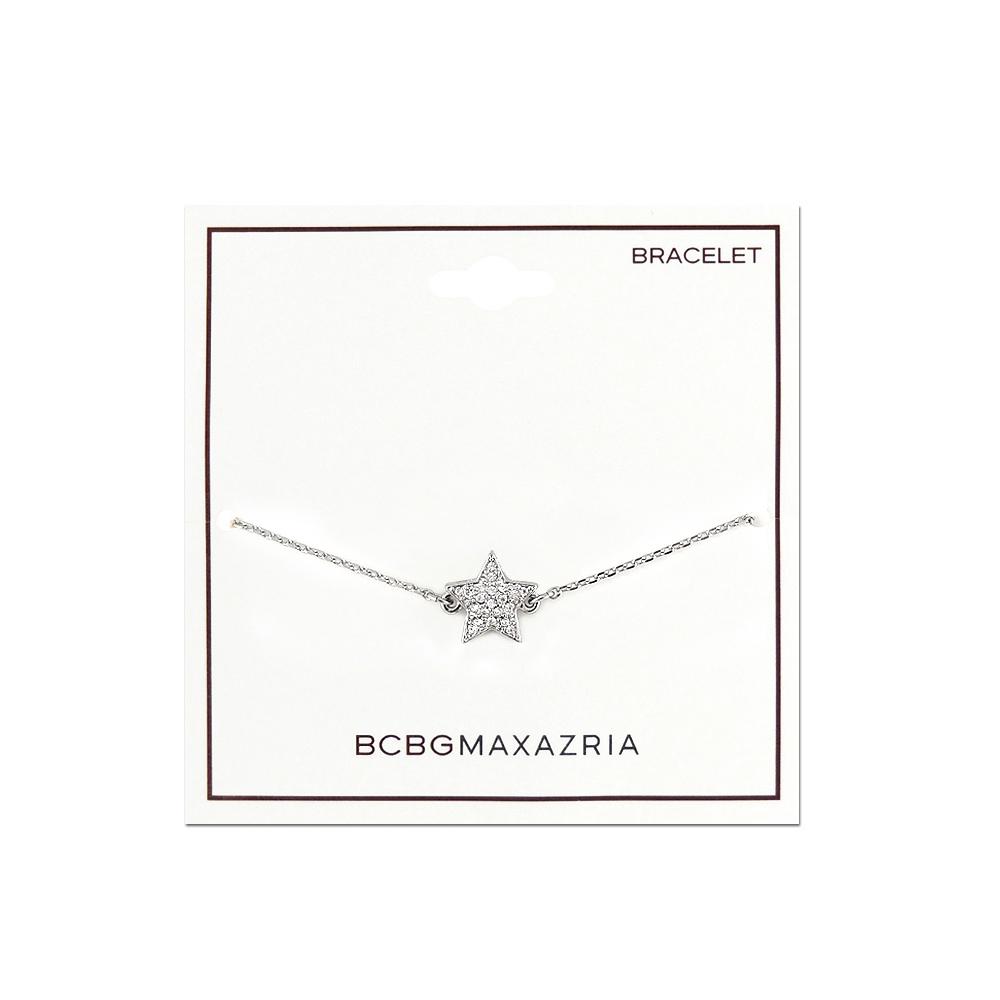 BCBG 銀色星星造型晶鑽鑲嵌手鍊