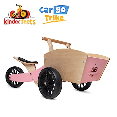 Kinderfeets 美國木製平衡滑步車/教具車-初心者收藏家系列 (粉精靈)
