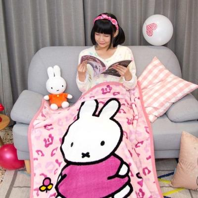 Miffy玩耍米菲 頂級加厚法蘭絨休閒毯