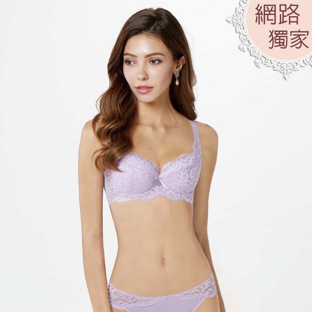 曼黛瑪璉  包覆提托經典內衣 B-E罩杯(薰草紫)