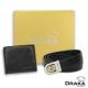 DRAKA 達卡 - 黃金禮盒 真皮皮夾+紳士皮帶-3201