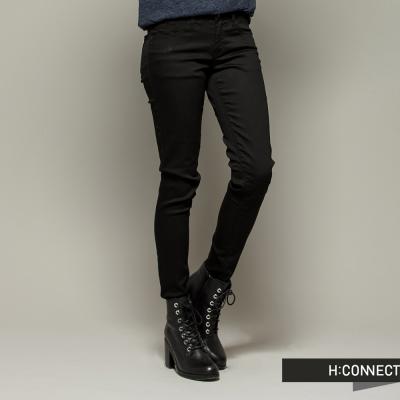 H-CONNECT-韓國品牌-女裝-素面修身顯瘦長褲-黑