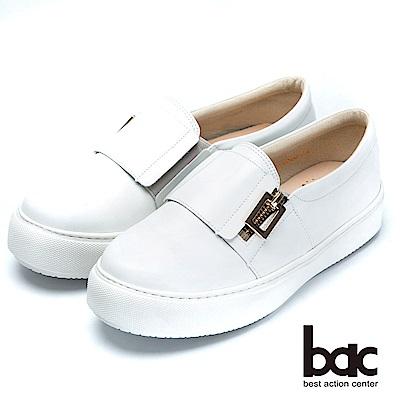 bac時尚穿搭-經典舒適的平底樂福鞋-白色