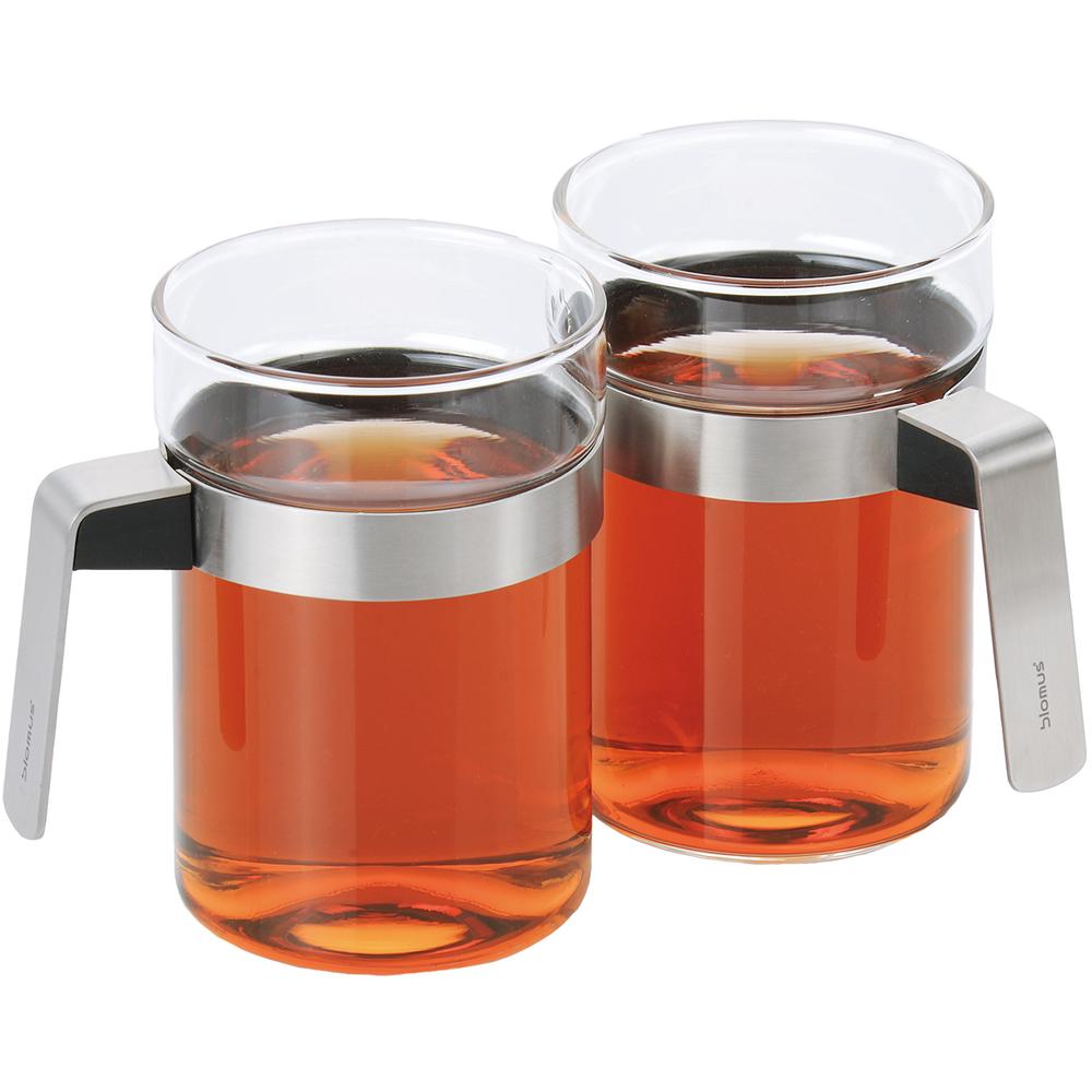 BLOMUS Sencha鋼柄玻璃杯2入(300ml)