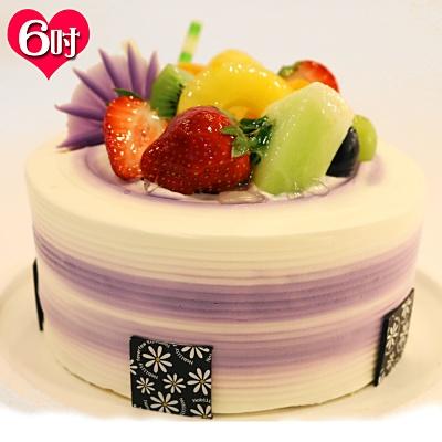 現貨+預購 波呢歐香濃芋泥雙餡布丁夾心水果鮮奶蛋糕(6吋)