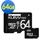 KLEVV 科賦 Micro SDXC UHS-1 64GB 記憶卡(附轉卡)