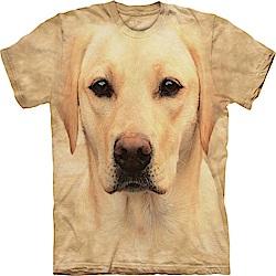 摩達客 美國進口The Mountain 黃拉不拉多犬臉 純棉環保短袖T恤