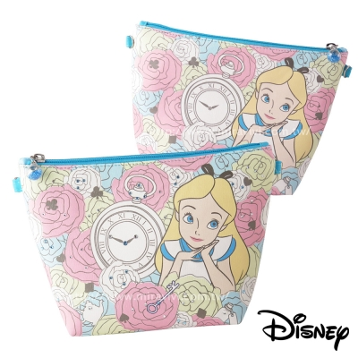 Disney迪士尼華麗經典施華洛世奇水鑽多功能化妝包/萬用包_愛麗絲