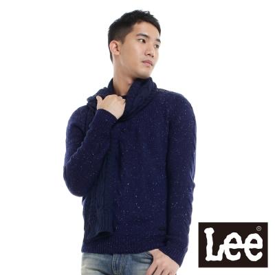 Lee-針織毛衣-圓領長袖-男款-藍-LL11062806B